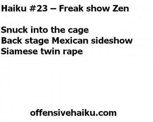 Offensive Haiku #23