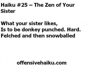 Offensive Haiku #25